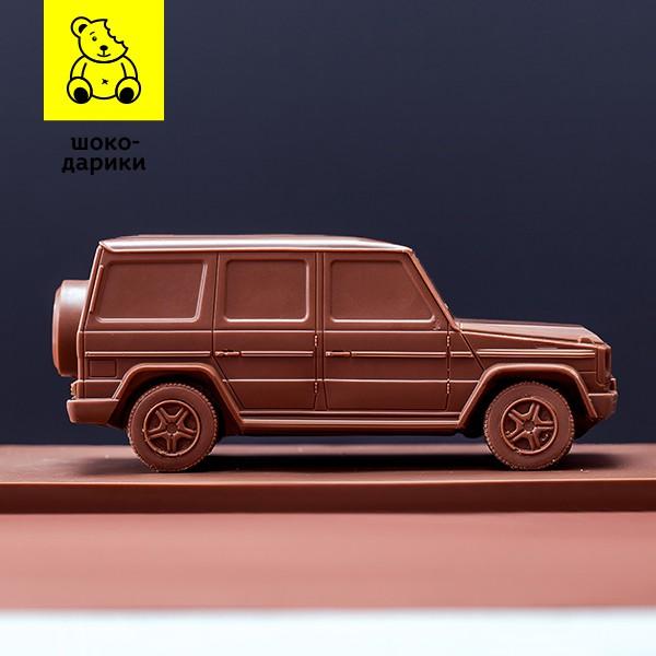Машинка из шоколада